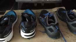 Shoes cleaned and drying out!