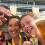 At the finish of Leeds Half Marathon