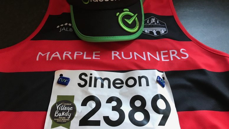 Village Bakery Wrexham Half Marathon - kit flat lay