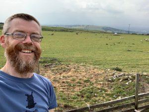Gratuitous selfie in a field