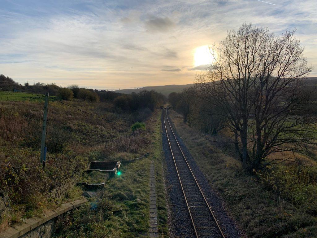 Low sun and railways